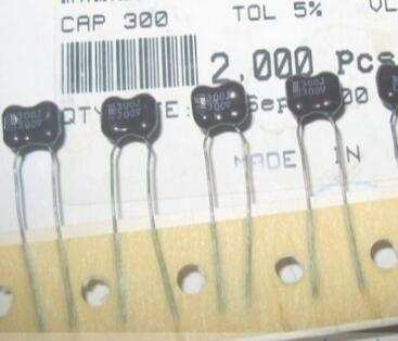 300PF 300V 5% P=5MM 300P capacitors can instead of 330PF and free shipping.
