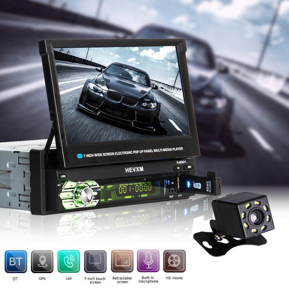 Automagnitola 2 Din Voiture Vidéo MP5 Multimédia Lecteur Autoradio 9601G FM Radio Récepteur Avec Écran Rétractable Contient GPS