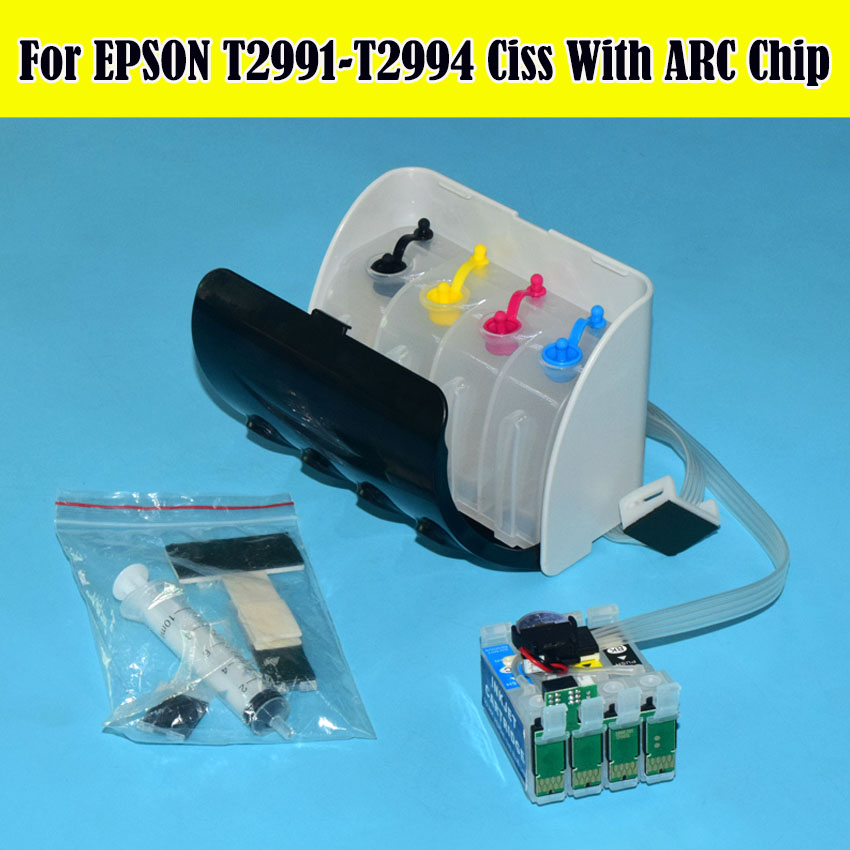 29XL T2991 - T2994 XP 235 XP 245 Bulk Ciss System With ARC Chip For Epson Expression XP-235 XP-335 XP-245 XP-332 XP342 Printer броши sokolov 794025 s
