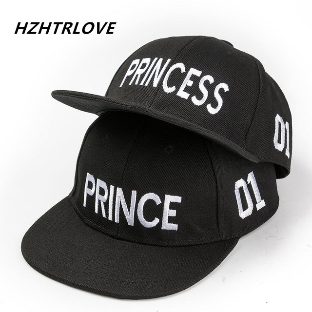 b710947cf53 Hot Sale PRINCE PRINCESS Embroidery Boys Girls Snapback Hat Couple Baseball  Cap Gifts For Children Fashion Hip-hop Caps