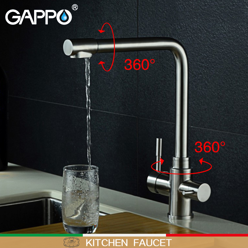 Gappo Kitchen Faucets Rotatable Kitchen Water Faucet Flexible Kitchen Sink Mixer Water Tap Deck Mounted Mixer Tap