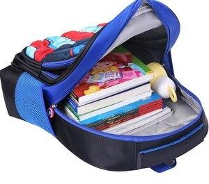 Image 5 - Childrens Backpack Boys Captain America School Bags For Boys Girls Children Primary Students Superhero Backpacks 4 Styles