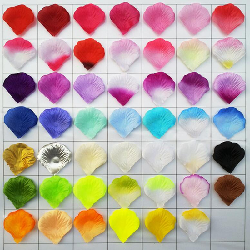 Mix Color Silk Rose Petals For Wedding Decoration Romantic Artificial Rose Petals Wedding Flower Rose Flower 200pcs/lot