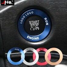 JHO ABS кольцо зажигания рамка Крышка Накладка для Jeep Grand Cherokee 2014-2018 2015 2016 2017 интерьер Стайлинг Декор автомобиля аксессуары