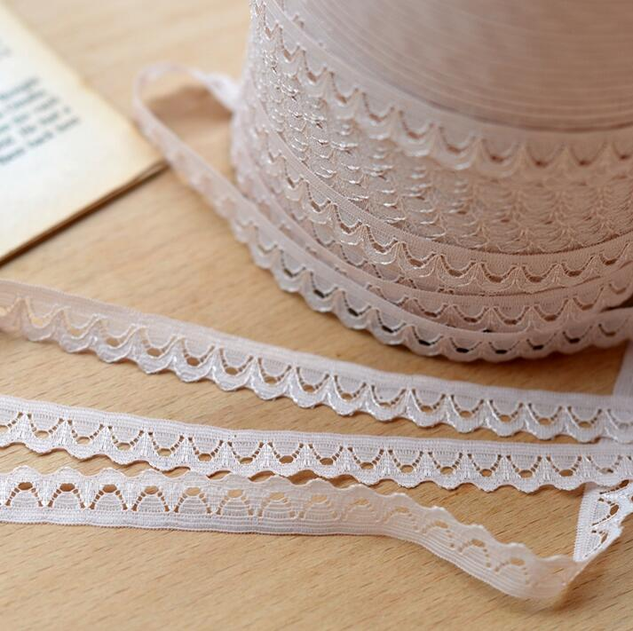 Arts,crafts & Sewing 5 Meters 13mm Width Embroidered Polyester Half Moon Shape Apricot Lace Ribbon Thin Lace Trim For Patchwork Bow Accessories Reasonable Price