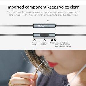 Image 4 - ROCK In Ear cyrkon słuchawki stereo gorąca sprzedaż 3.5mm zestaw słuchawkowy do iphonea 6 6S 5 5S SE 4 4S Samsung luksusowe słuchawki douszne z mikrofonem