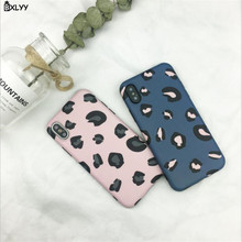 BXLYY Fashion Colorful Leopard Phone Back Cover for Iphone XS Max XR X Case Iphone7 8 Plus New Year Gift Party Supplies.8z