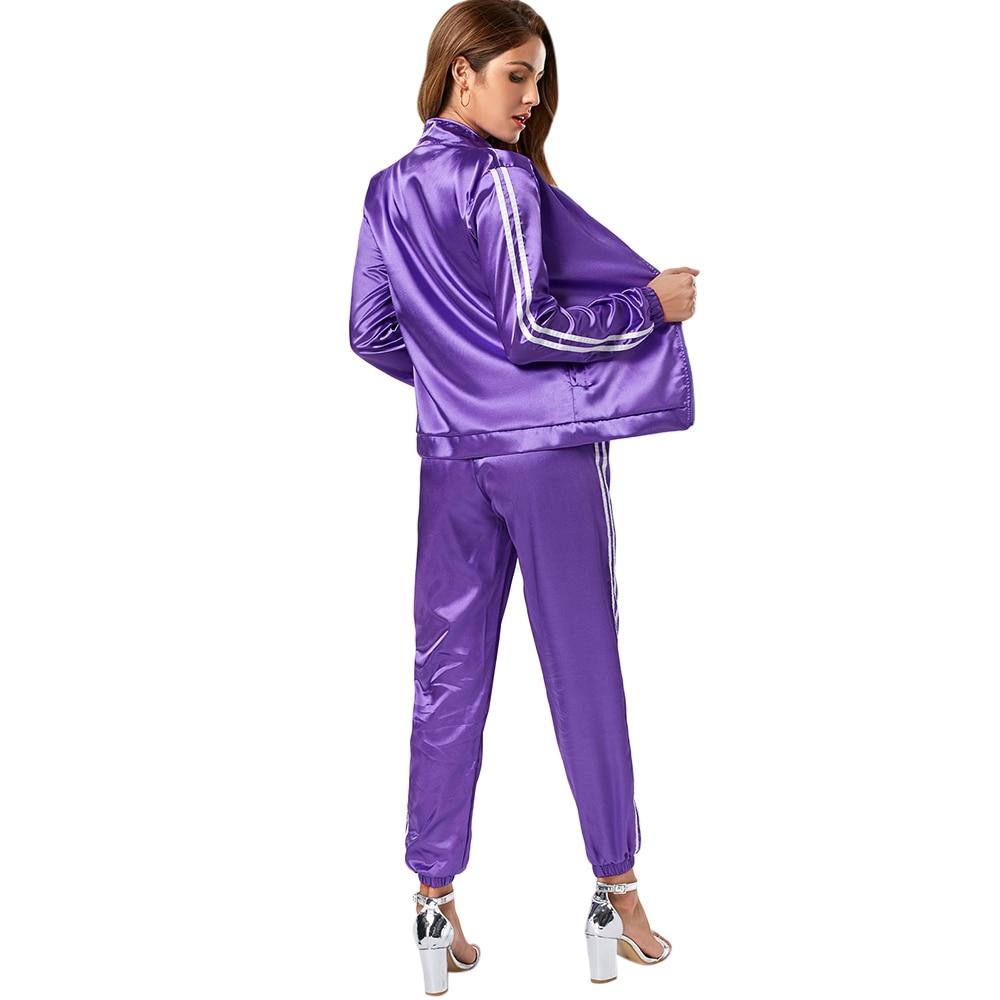 ZAFUL mujer Yoga Sets Fitness entrenamiento gimnasio ropa deportiva niñas  chaqueta activo deportes y pantalones basculador en Conjuntos de yoga de  Deportes ... ced63bf46f83