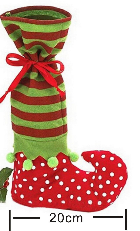 Free shipping Christams Stockings New Year Candy Bag Christmas Decoration Gifts Santa Socks Christmas Ornament