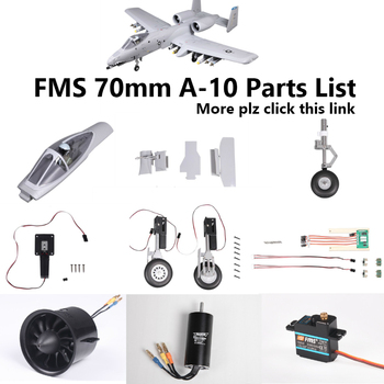 FMS 70mm A10 A-10 V1 EDF Ducted Fan Jet Parts Retract Landing Gear Set System Door Motor Servo RC Airplane Model Plane Aircraft image