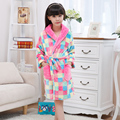 New Promotion Children's Bathrobes Winter Kids Boys Flannel Cartoon Nightgown Super Soft Bathrobe For Girl Albornoz Infantil
