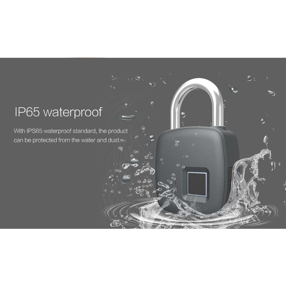 Image 4 - Smart Keyless Fingerprint lock Biometric Waterproof Lock with Finger Print Security Touch Keyless Lock USB charge for Gym Locker-in Electric Lock from Security & Protection