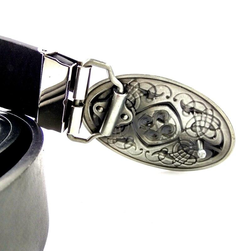 1ceb03ee6966 Celtique noeud Style vintage Hommes en cuir ceinture ovale boucle de  ceinture en métal cowboy ceintures pour les jeans Noir PU ceinture en cuir  hommes de ...