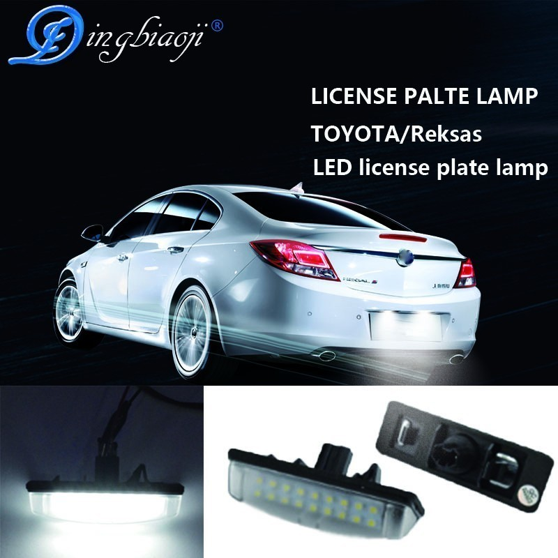2X No Error Xenon White 18SMD Number LED License Plate Light for Toyota <font><b>Camry</b></font> Aurion Prius Lexus IS300 GS430 RX330 LS430 ES300 image