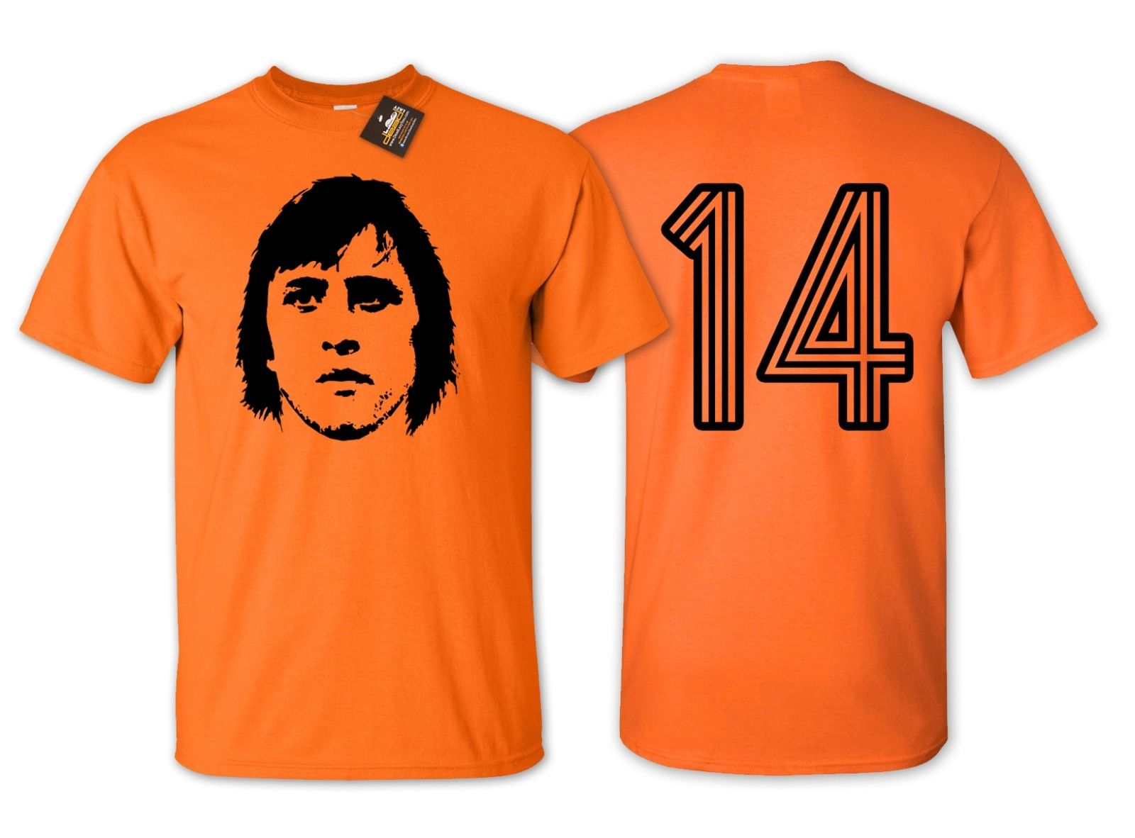 2019 Funny Cruyff 14 Holland Football T Shirt - Netherlands Euros Fan Shirt New Double Side Unisex Tee