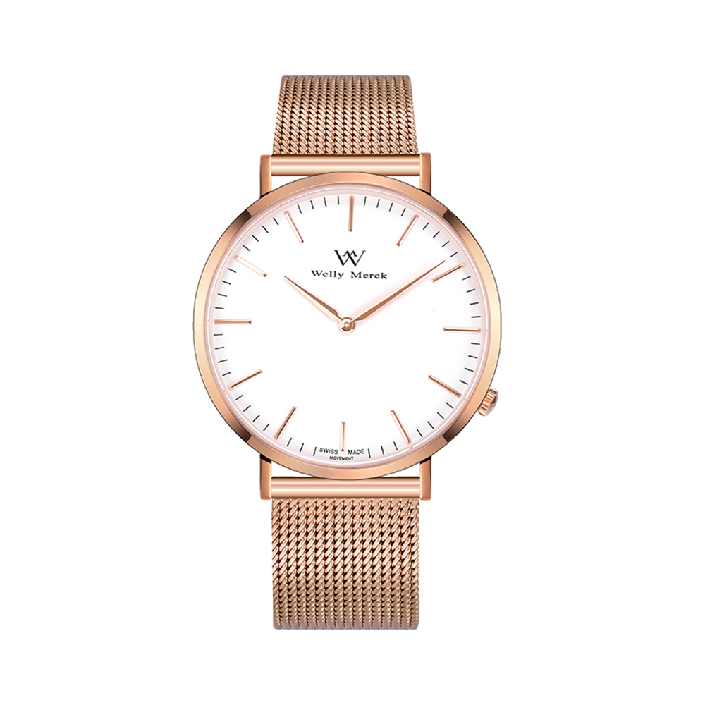 Welly Merck Brand Quartz Watch Ladies Waterproof Stainless Steel Watch Fashion Business Woman Watch цена и фото