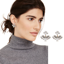 3 colors new design Women's Trendy Alloy Top Seller Brand Designer shining butterfly delicate Stud Earrings Factory Wholesale