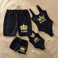 Famille correspondant maillot de bain imprimer mère fille maillot de bain père fils plage Shorts femmes maillot de bain filles