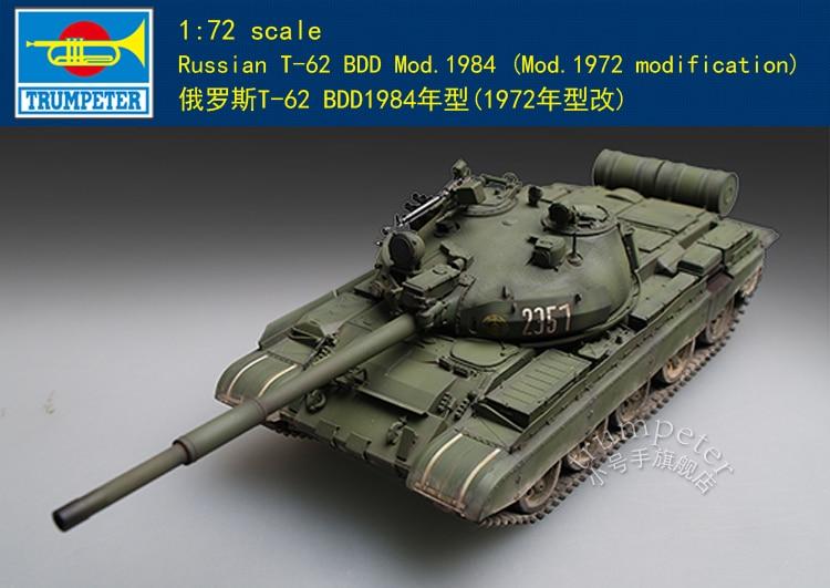 Trumpeter 07148 1/72 Russian T-62 BDD Mod.1984 (Mod.1972 Modification) Model Kit