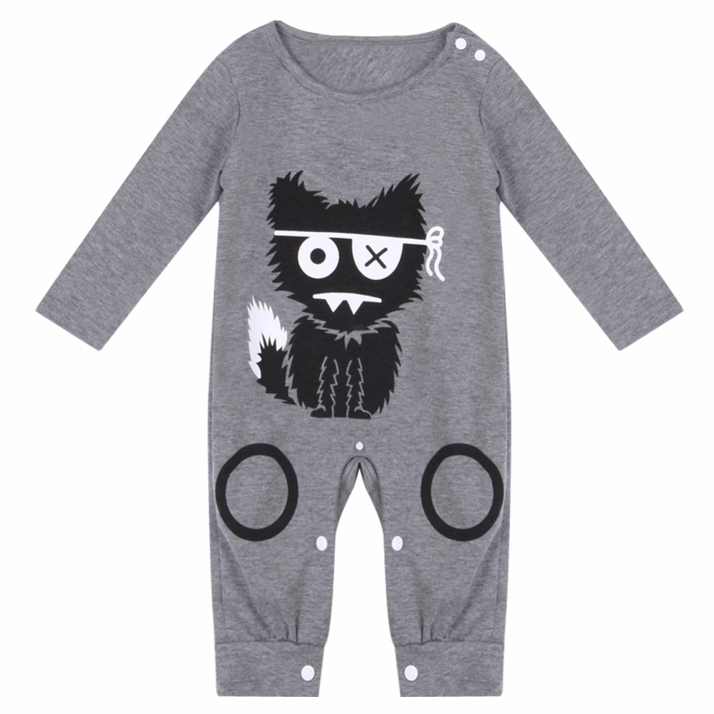 Cartoon Baby Boy Clothes Long Sleeve Baby Rompers Newborn