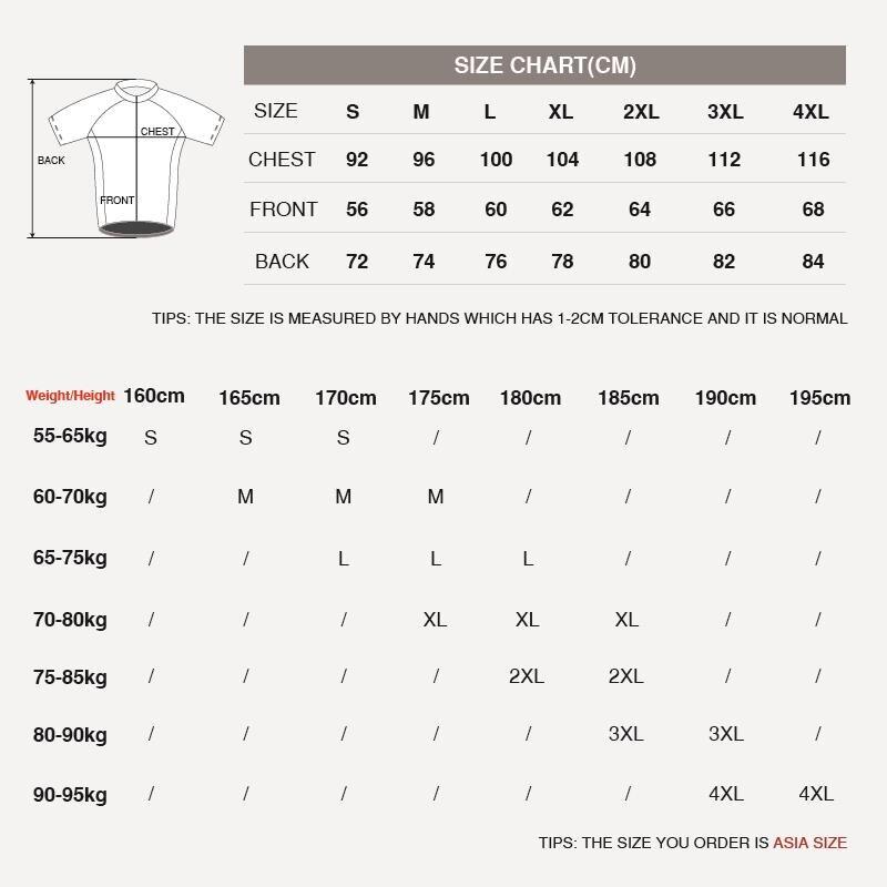 size-chart-cycling-jersey