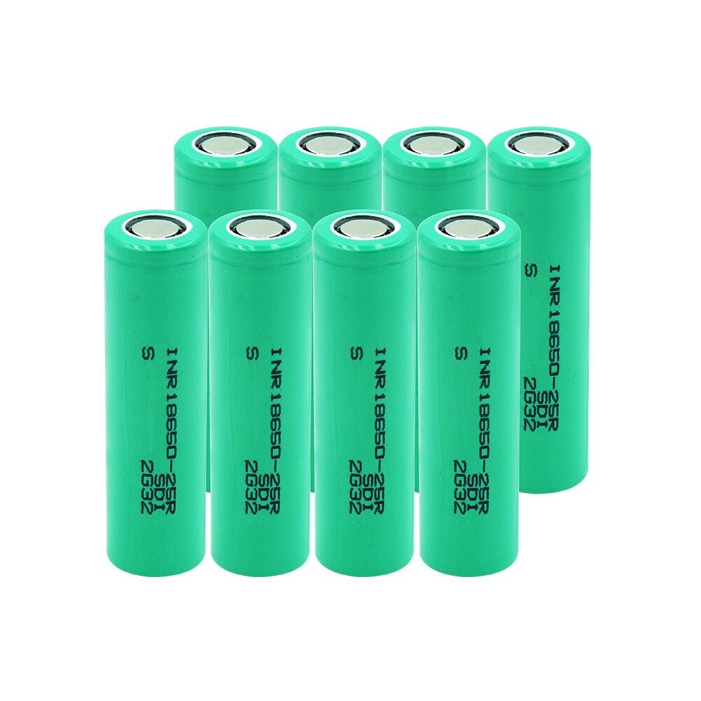 6/8/10 sztuk 20A prąd rozładowania INR 18650-25R INR1865025R 2500mAh Li-ion bateria litowa akumulator 18650 wymiana komórek