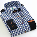 Men's Shirt A Flannel Pictures Autumn Spring Casual Long Sleeve Shirt Soft Comfort Slim Fit Styles Brand Men's Clothing