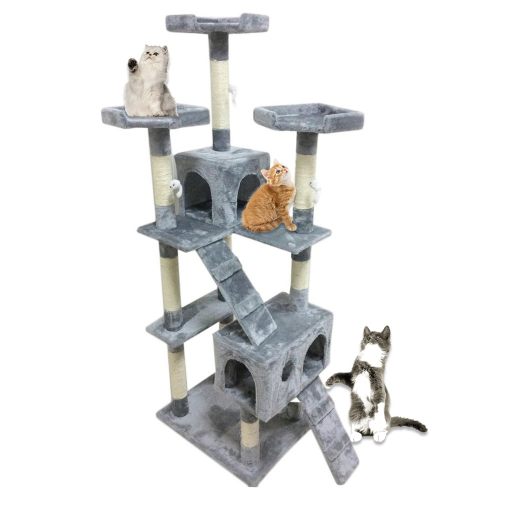 Drôle Post Activités Centre Jouets Pet Protéger L'activité Centre de Chat Arbre Maison Animaux Jouant Escalade Meubles