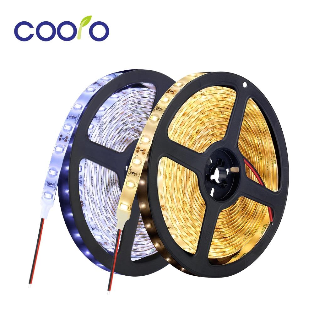 LED Strip Light 5630 Waterproof DC 12V Diode Tape 60led/m LED Flexible Strip Light White Warm White 5m/lot