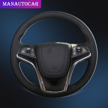 Car Braid On The Steering Wheel Cover for Chevrolet Malibu 2011-2014 Volt 2011-2015 DIY Auto Steering Cover Interior Car-styling mewant wine red leather black suede car steering wheel cover for chevrolet cruze 2009 2014 aveo 2011 2014 orlando 2010 2015