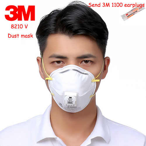 With Breathing Valve Dust Mask A N95 3m 8210v Respirator