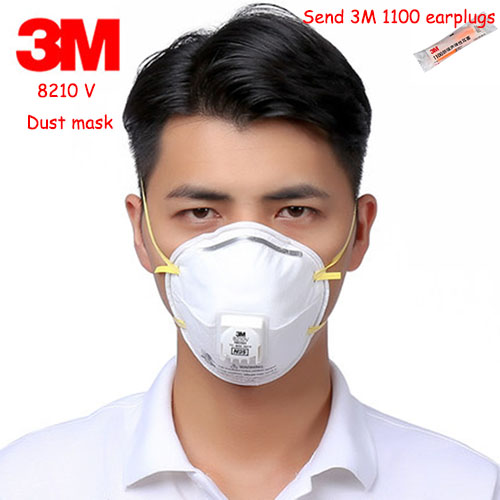 With 8210v 3m Dust N95 Respirator A Mask Breathing Valve