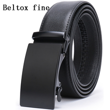 купить Men's Automatic Buckle Belts for Men,Slide Ratchet Belt with Genuine Leather 1 3/8 Big and Tall ceinture Classic ceinture homme по цене 561.64 рублей