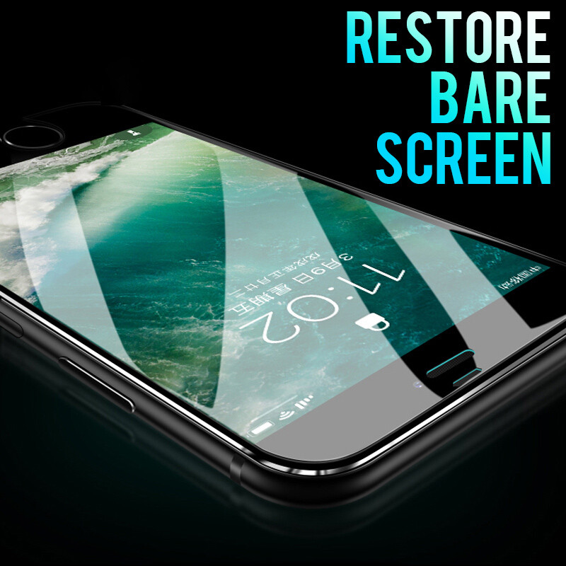 Image 2 - 7D Aluminum Alloy Tempered Glass For iPhone 6 6S 7 Plus Full Screen Protector Protective On The For iPhone X 8 5 SE 5S Glass-in Phone Screen Protectors from Cellphones & Telecommunications