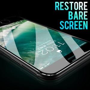 Image 2 - Protector de pantalla de aleación de aluminio 7D para iPhone, Protector de pantalla completo de vidrio templado para iPhone 6 6S 7 Plus X Xs 11 Pro Max Xr SE