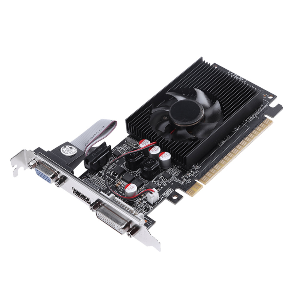 1Pcs GT730 2G DDR3 64Bit HDMI DVI PCI-E Game Video Graphics Card for NVIDIA PC Gaming Video Card Desktop Graphics Cards Hot sale
