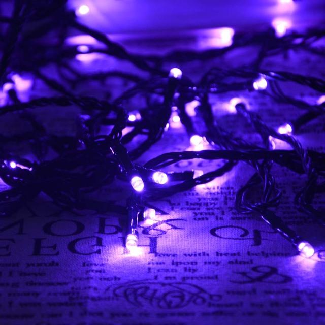 Purple Color Solar Christmas Lights 72ft 200 LED 8 Modes Solar Fairy String Lights Outdoor Solar Light for Halloween Decoration