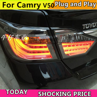 doxa Car Styling for Toyota Camry V50 Taillights 2012 2014 Camry LED Tail Light Aurion Rear Lamp DRL+Brake+Park+Signal