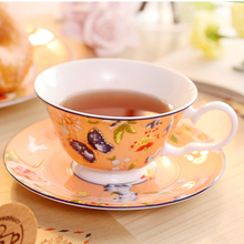 Europe Bone China Coffee Cup and Saucer Sets Colorful Butterfly High-grade British Afternoon tea Tea Nice Gift 200ml