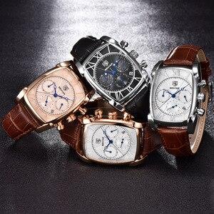 Image 5 - BENYAR แฟชั่น Chronograph นาฬิกาผู้ชายกันน้ำ 30M สายคล้องคอหนังแท้คลาสสิกสี่เหลี่ยมผืนผ้านาฬิกาควอตซ์