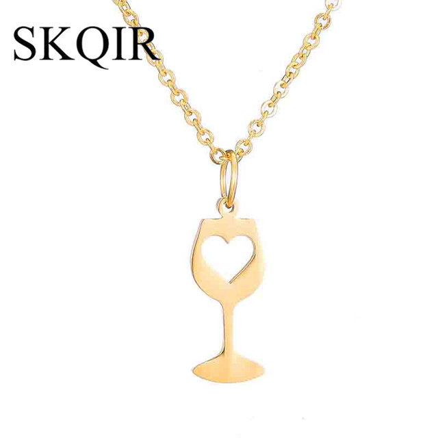 Skqir fashion wine jewelry heart pendants necklaces for women spring skqir fashion wine jewelry heart pendants necklaces for women spring style gold chain stainless steel necklace aloadofball Image collections