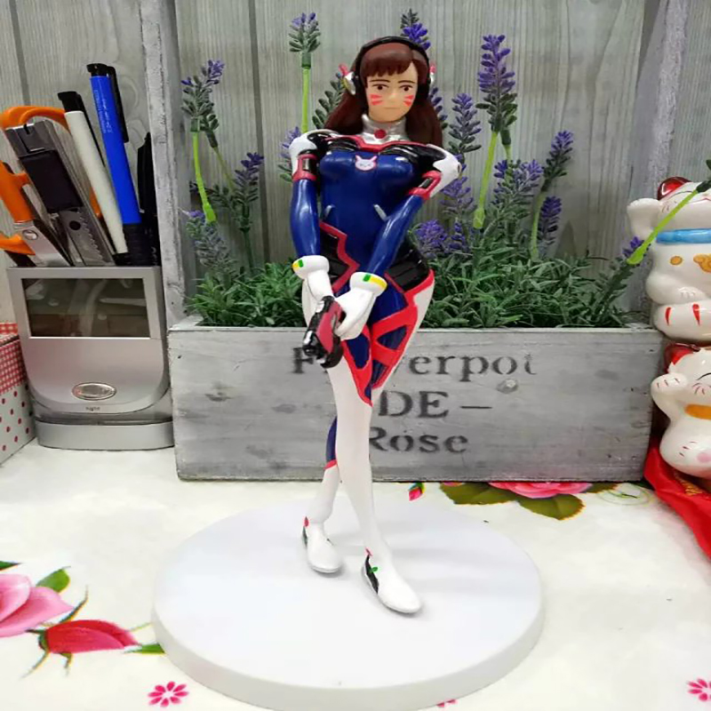 Hot Game DVA d.va PVC Action Figure Collectible Model Toy 21cm KT3565 new game ashe action figure collectible model toy pvc 23cm game figures doll brinquedos juguetes hot sale free shipping