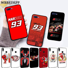 WEBBEDEPP Marc Marquez Moto Gp 93 Silicone Case for Huawei honor 6A 7A Pro 7X 8 Lite 8X 8C 9 9X Note 10 View 20