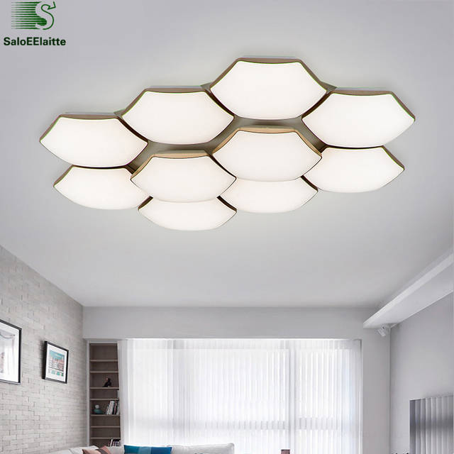 Moderne Honeycomb Metall Dimmbare Led deckenleuchte Glanz Acryl ...
