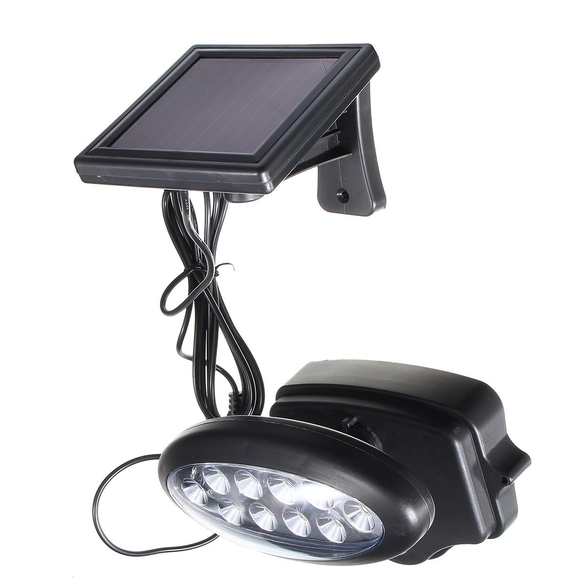 Smuxi 10 LED 3.7 V Solar Power PIR di Movimento Della Parete del Sensore luce Esterna Giardino Lampada Impermeabile IP44 120 Gradi Garage Driveway luce