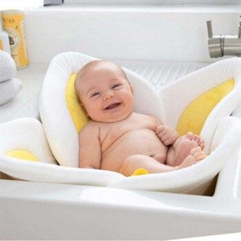 Nowe dziecko kwiat wanna noworodka kwitnąca do kąpieli dla Baby Boy dziewczyna składany prysznic zagraj wanna niemowlę pluszowe kwiatowy poduszka mata