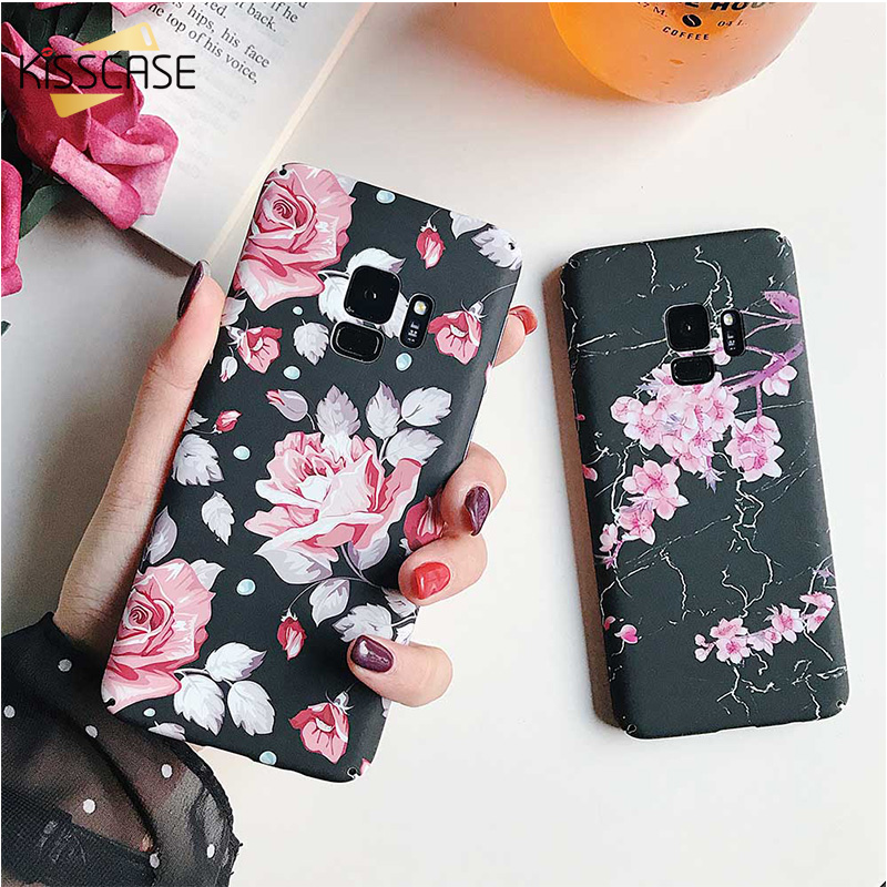 KISSCASE Flower Phone Case For Samsung S7 S7 Edge S8 S9 Plus Note 8 Note 9 Plastic Back Cover For Samsung S9 S8 Case Coque Capa (China)