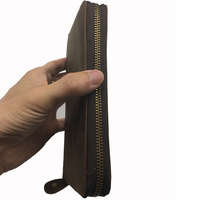 Genuine Leather Long Phone Wallet Genuine Leather Men Purse