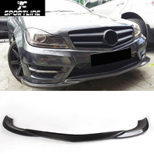 C-Class W204 Carbon Fiber Car Racing Front Lip Apron Styling Fits for Mercedes Benz W204 C300 Sport Only 2012-2014