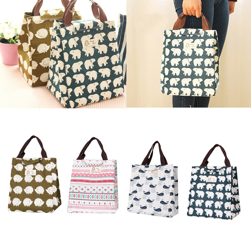 1Pc Portable Tote Thermal Insulated Lunch Box Bag Cooler Picnic Pouch New